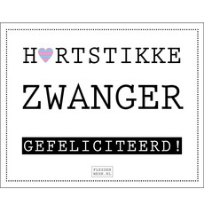 Flessenwerk Hartstikke zwanger, gefeliciteerd! - per 12