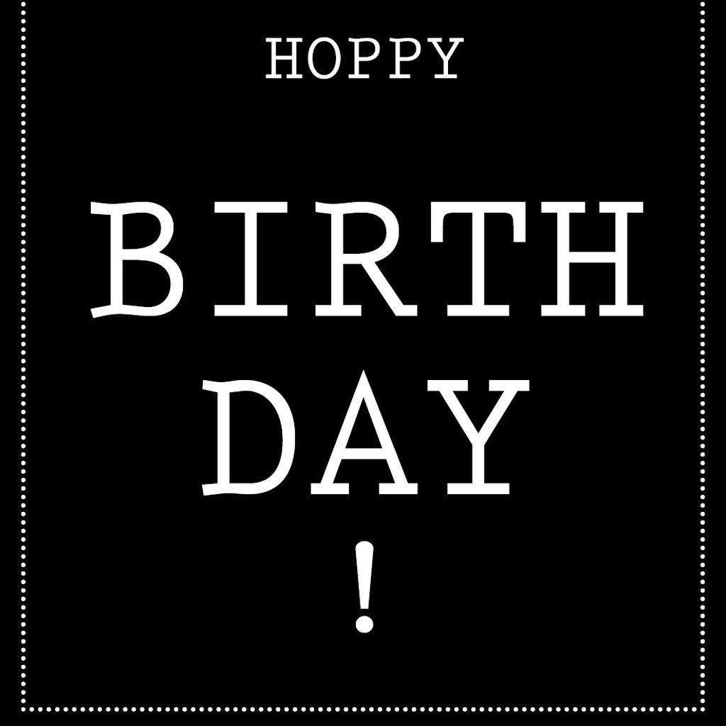 Flessenwerk Hoppa groot - Hoppy Birthday - per 6