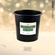 Flessenwerk Christmas bucket  - groot (8 liter) - per 12