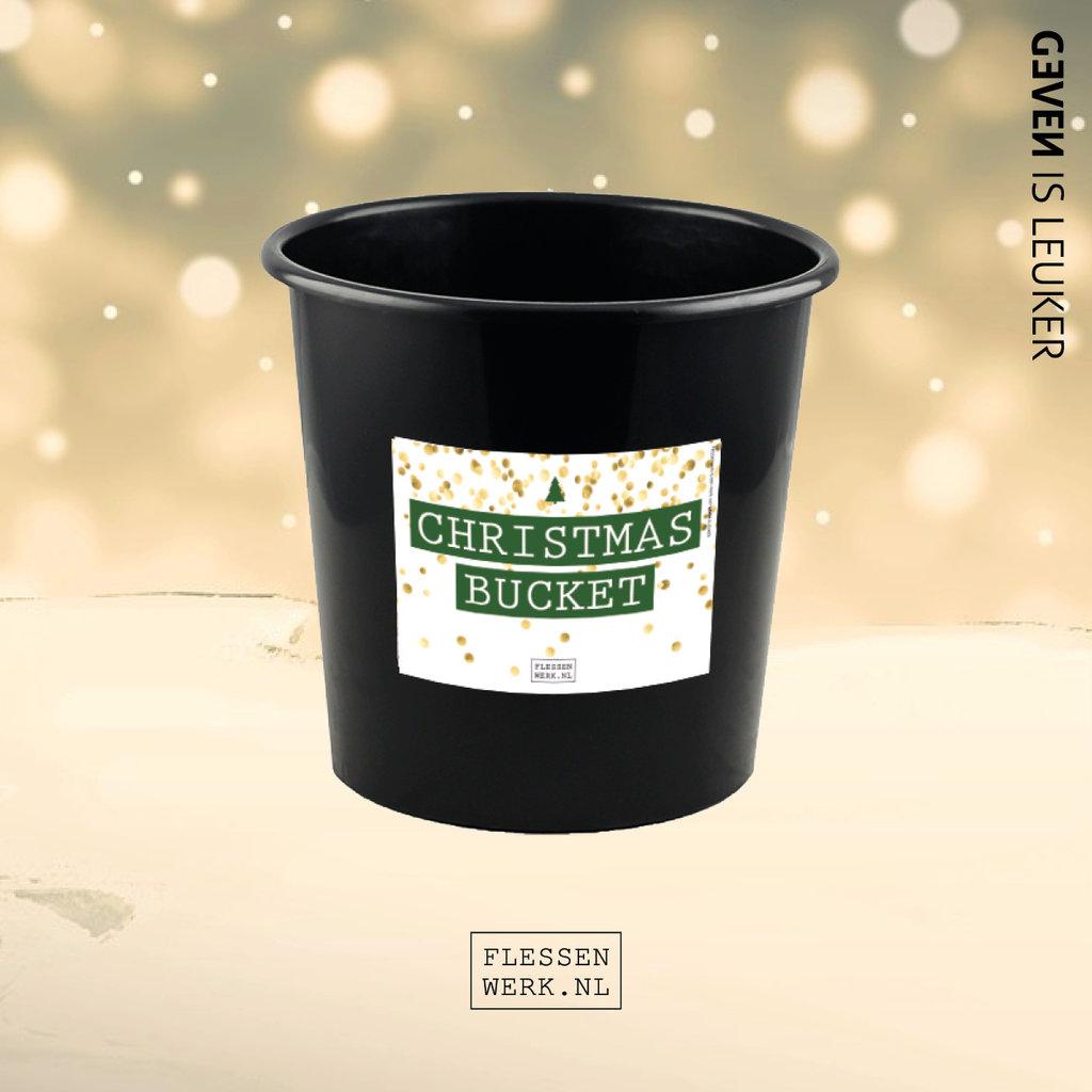 Flessenwerk Christmas bucket - klein (3 liter) - per 12