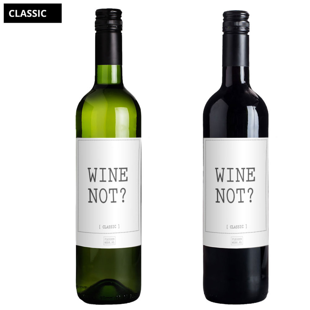 Flessenwerk Wine not - per 6