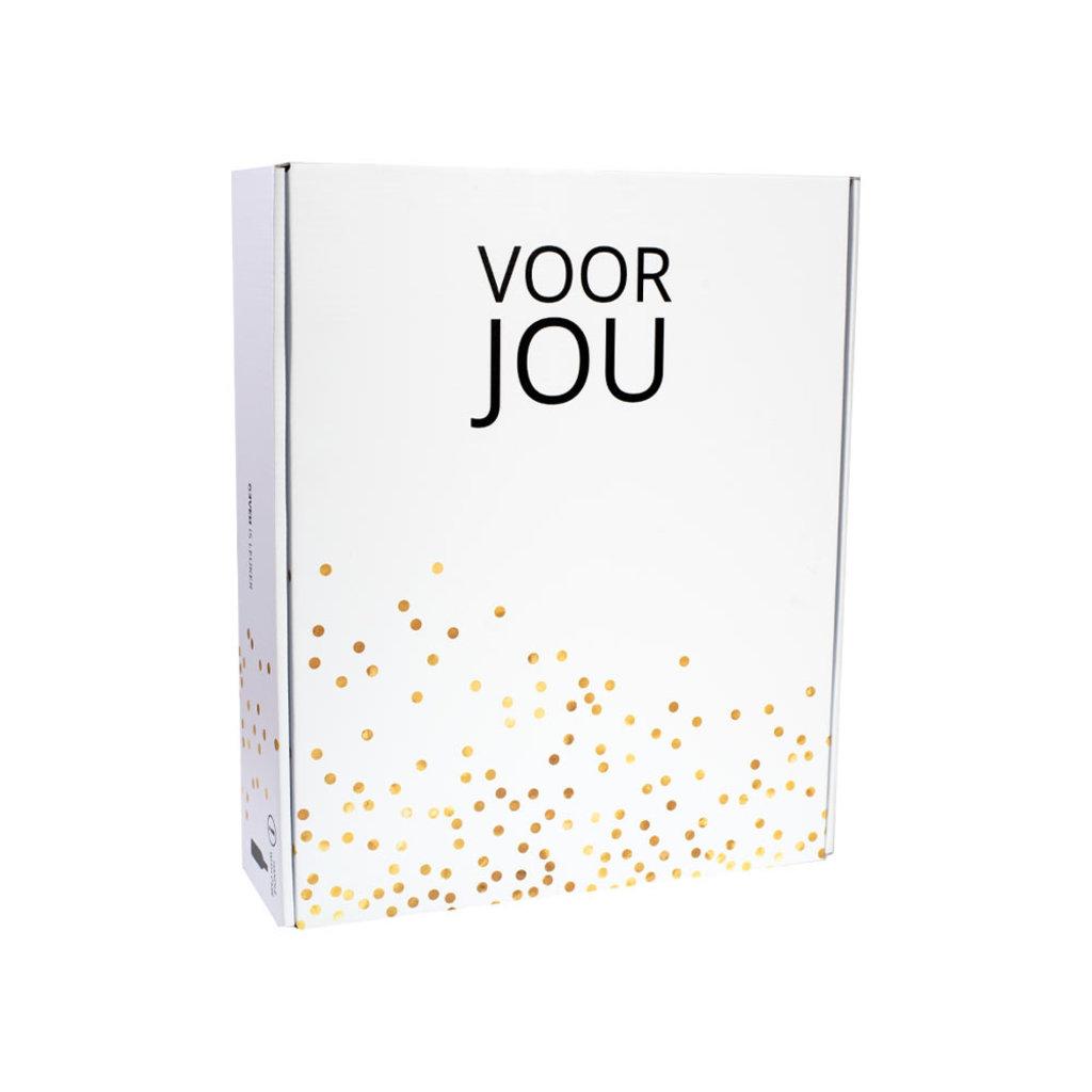 Geven is leuker VOOR JOU borrelbox -  0% Bubbelbox - per 6