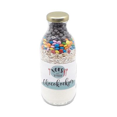Vers uit de Polder Fles met koekmix - Chocoladekoekjes - per 12