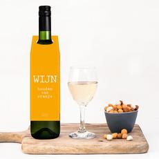 Flessenwerk Wijnhangers - wijn houden van oranje! - per 12