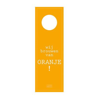 Flessenwerk Bierhangers - wij brouwen van oranje! - per 12