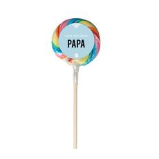 Eat your present Regenboog lolly - lieve papa - per 6