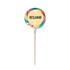 Eat your present Regenboog lolly - geslaagd - per 6