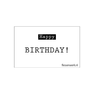 Flessenwerk Kaartje - Happy birthday - per 6