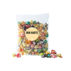 Eat your present Gekleurde popcorn - van harte - per 6