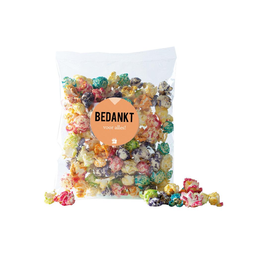 Eat your present Gekleurde popcorn - bedankt - per 6
