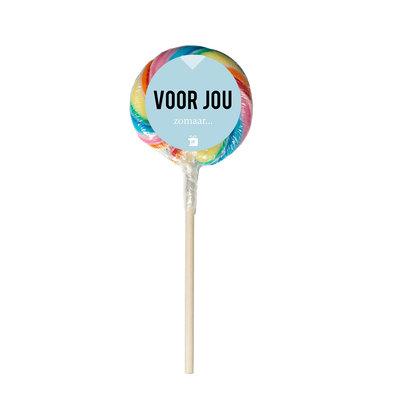 Eat your present Regenboog lolly - zomaar - per 6