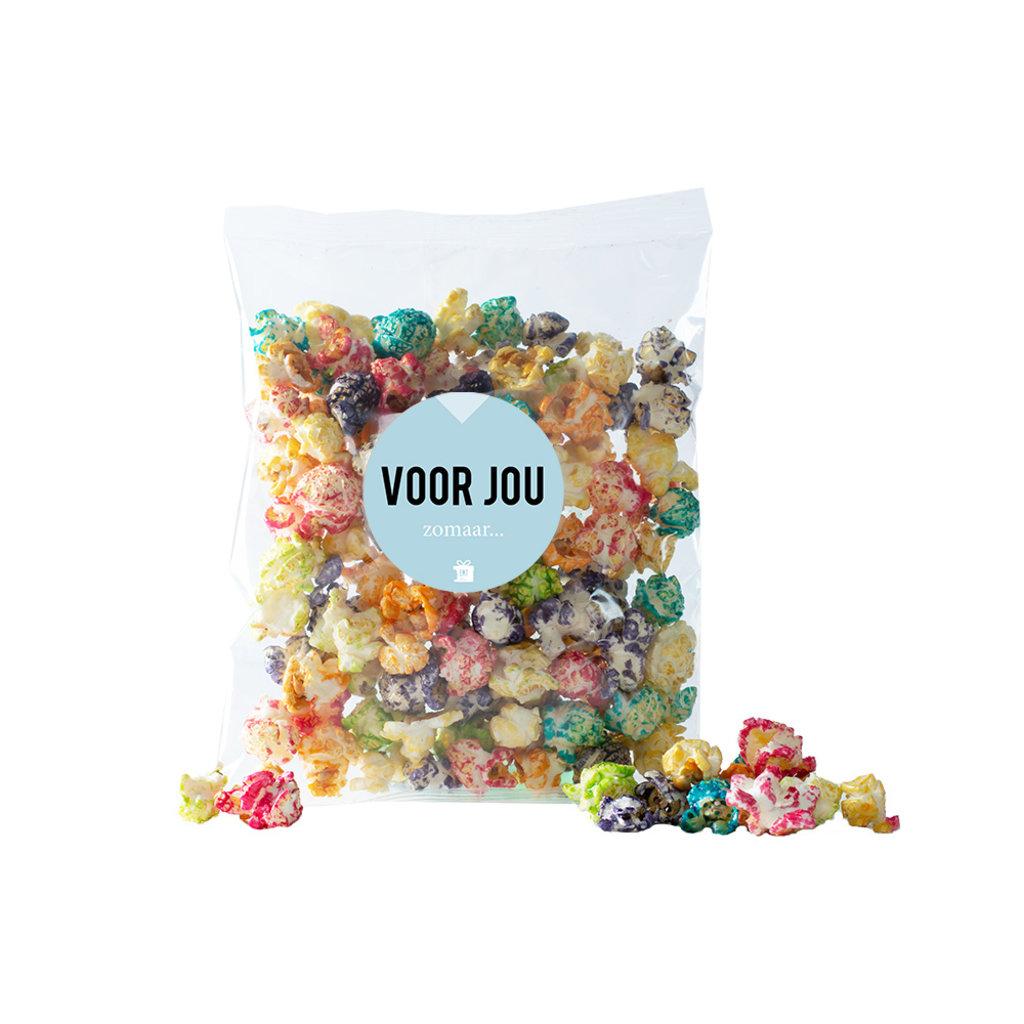 Eat your present Gekleurde popcorn - zomaar - per 6