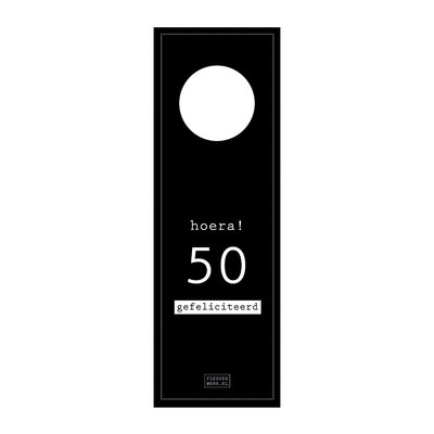 Flessenwerk Flessenhangers - 50 jaar - per 12