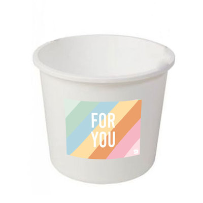 Eat your present For you bucket  - medium - per 12