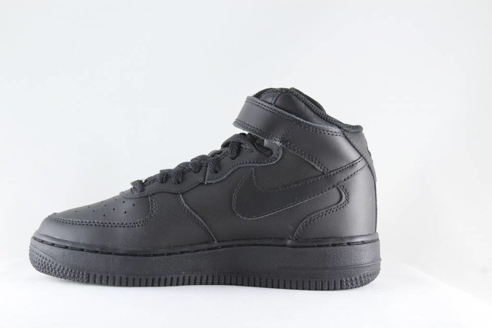 NIKE NIKE AIR FORCE 1 MID (GS) Black/ Black