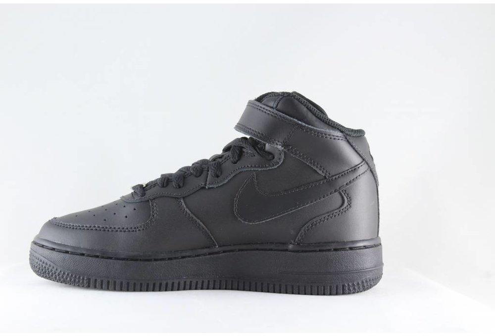 Nike J NIKE AIR FORCE 1 MID (GS) Black/ Black
