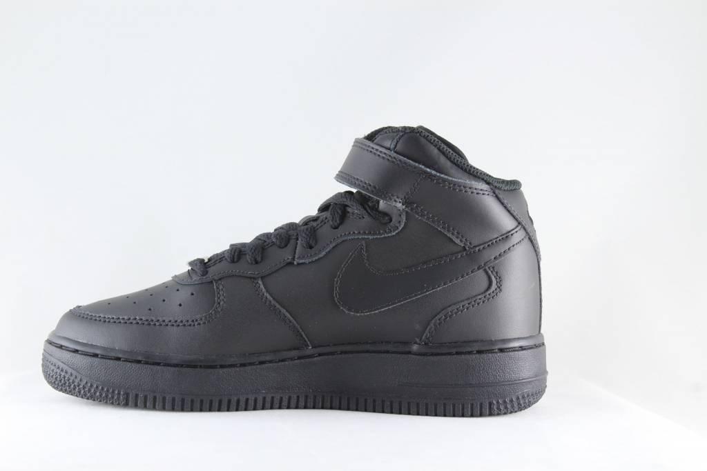 J NIKE AIR FORCE 1 MID (GS) Black Black