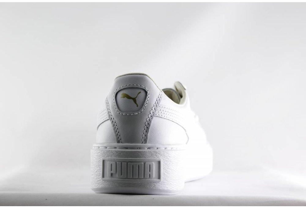 Puma W PUMA BASKET PLATFORM CORE Puma White- Gold