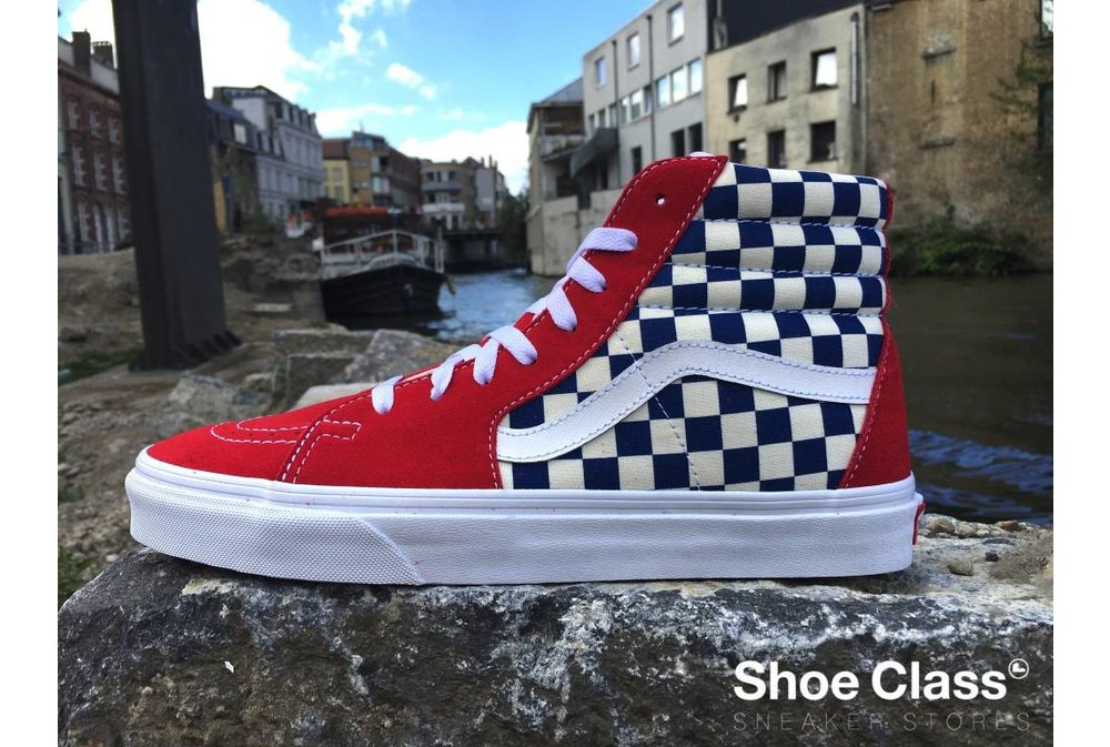 Vans VANS SK8-HI (BMX Checkerboard)  True Blue/Red