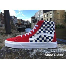 Vans VANS SK8-HI (BMX Checkerboard)  True Blue/Red