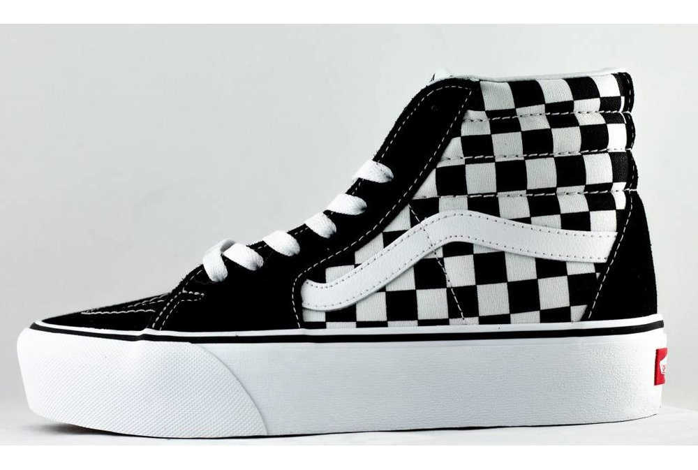 Vans VANS SK8-HI Platform 2 Checkerboard/ True White