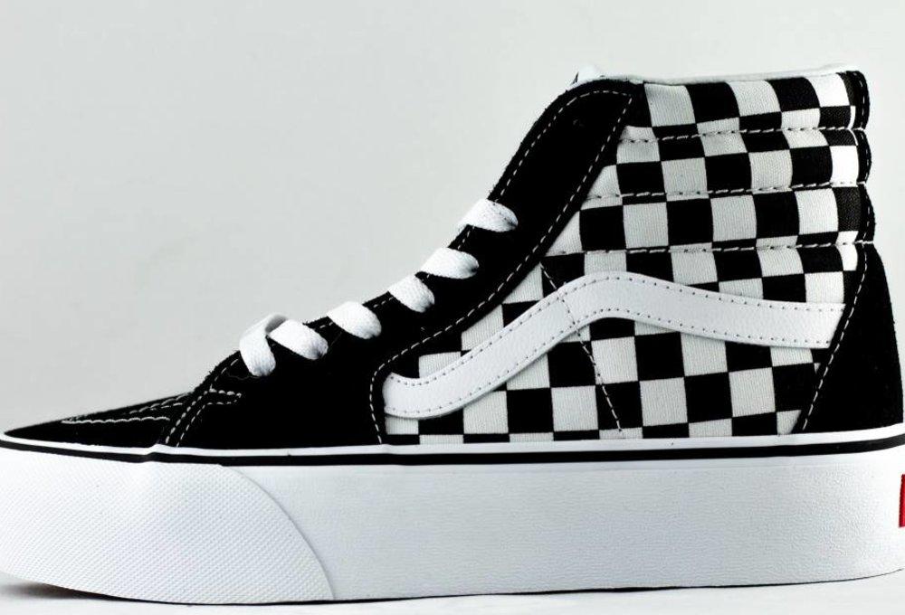 VANS SK8-HI Platform 2 Checkerboard/ True White