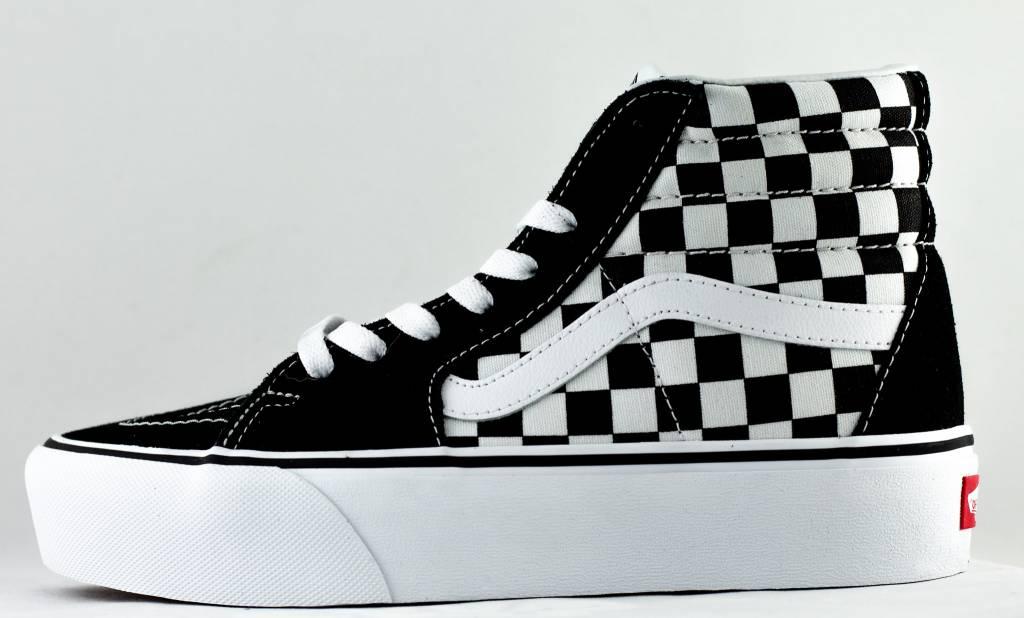 c5a6f80830 VANS SK8-HI Platform 2 Checkerboard  True White - Shoe Class