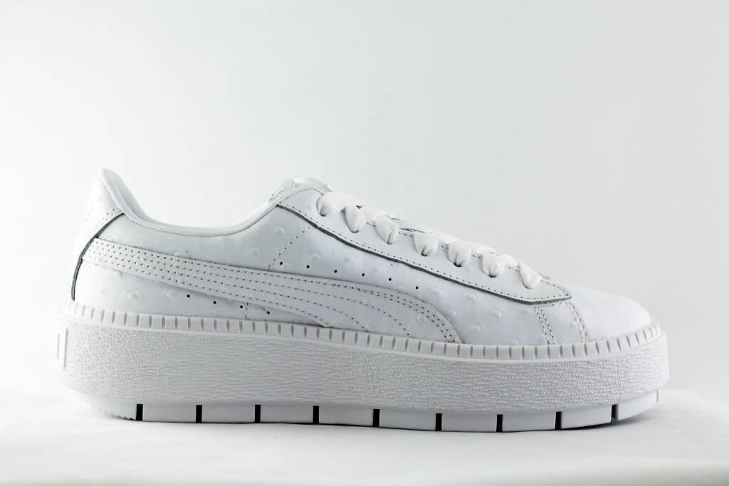 design de qualité ccba3 adef7 Puma PLATFORM OSTRICH White