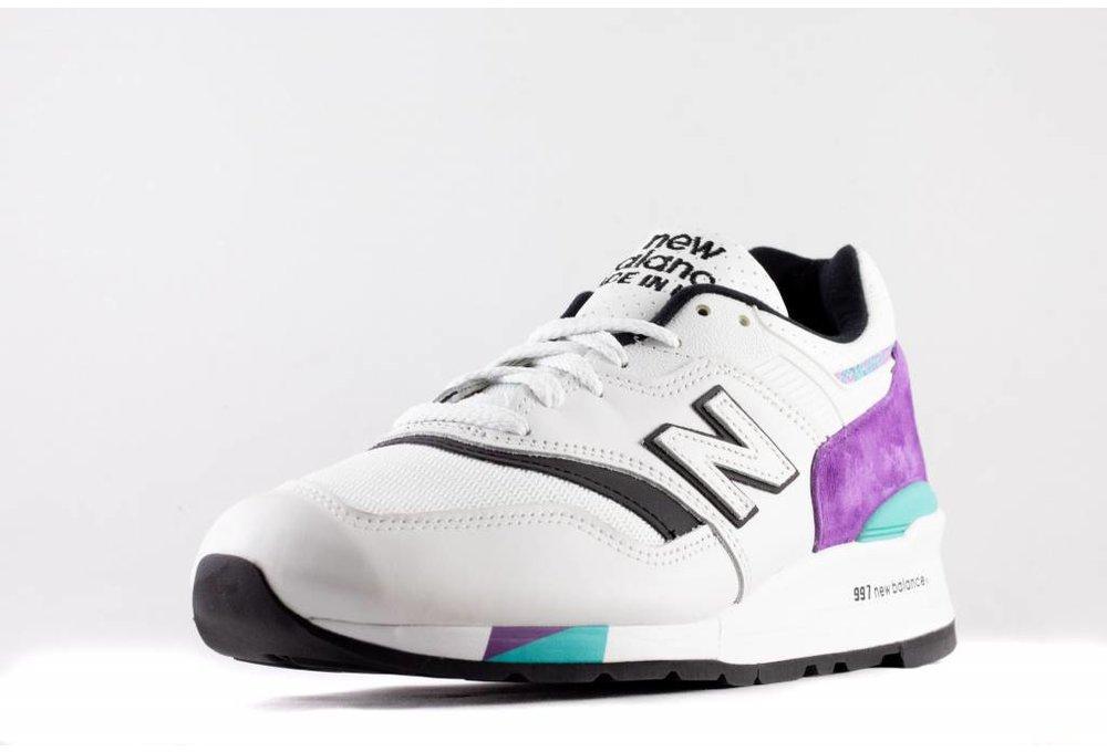 New Balance M NEW BALANCE M997 WEA Made In USA white/ purple