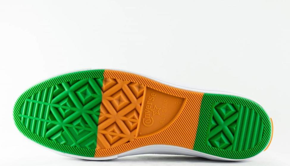 Converse CONVERSE ONE STAR OX White/Green/Tangelo