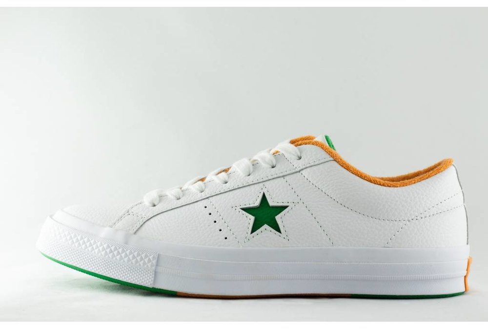 Converse CONVERSE ONE STAR OX White Green Tangelo 9f2438137