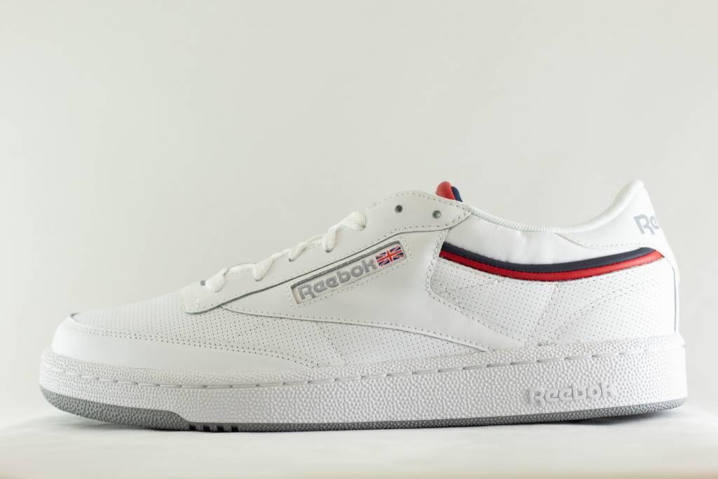 10407e33a71bb M REEBOK CLUB C 85 MU White   Navy   Red   Shadow - Shoe Class