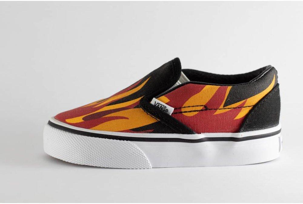 Vans VANS KIDS CLASSIC SLIP-ON (flame) Black/Racing Red