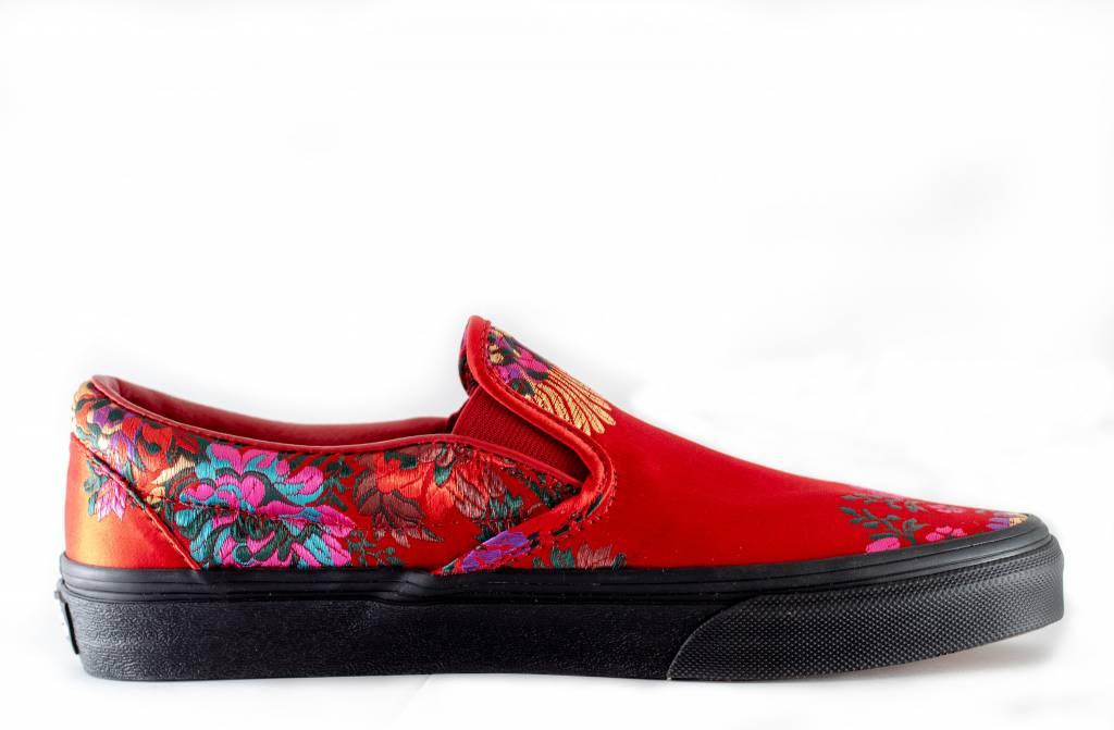Vans VANS CLASSIC SLIP-ON (Festival Satin) Red/Black