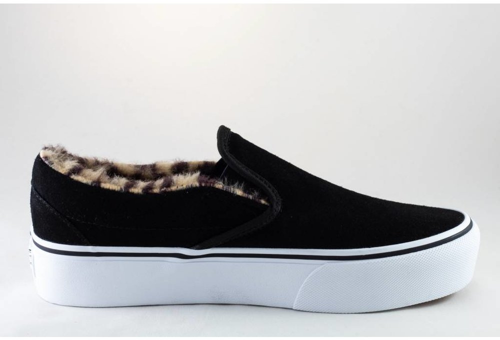 Vans VANS CLASSIC SLIP-ON PLATFORM Suede/Fur Black/Leopard
