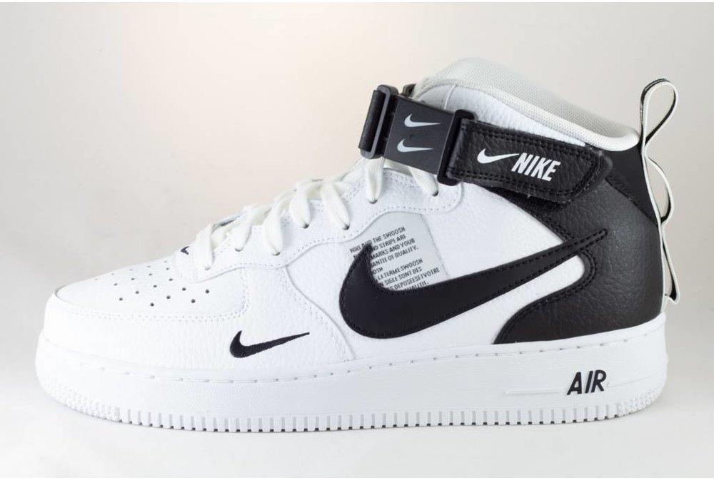 Nike NIKE AIR FORCE 1 MID '07 LV8 White/ Black- Tour Yellow