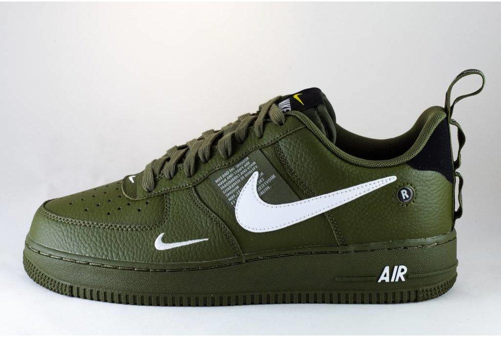Nike NIKE AIR FORCE 1 '07 LV8 UTILITY Olive Canvas/White-Black