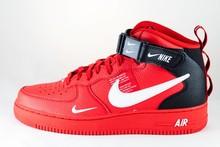 Nike NIKE AIR FORCE 1 MID '07 LV8 University Red/ White- Black