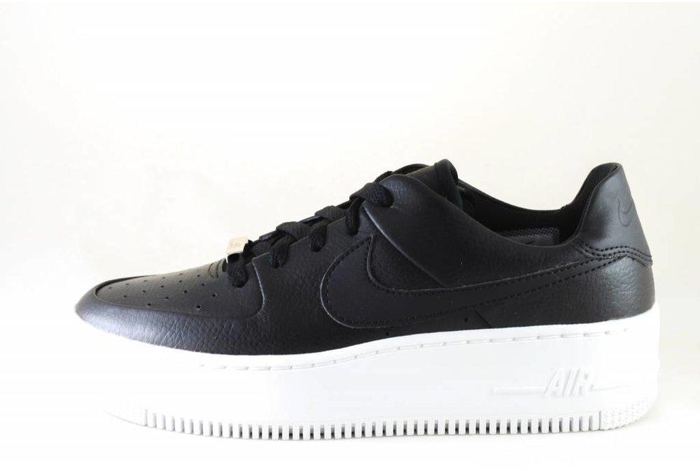 Nike NIKE AIR FORCE 1 SAGE LOW  Black/Black-White