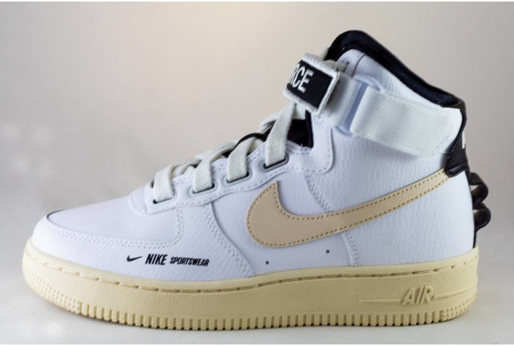 Nike W NIKE AIR FORCE 1 HI UT White/ Light Cream - Black - White