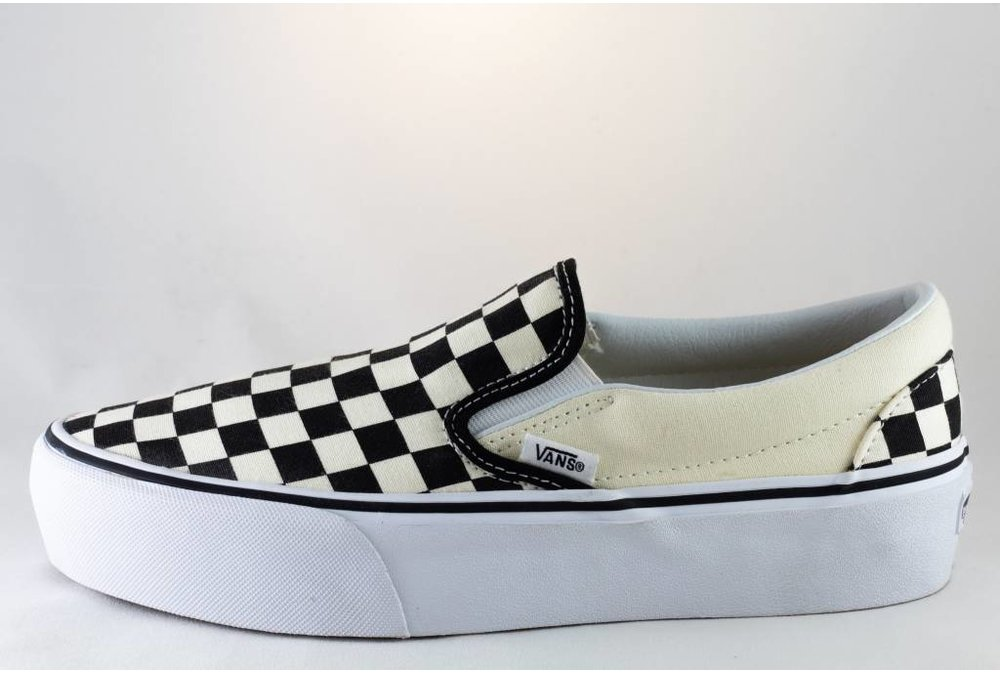 Vans VANS SLIP-ON PLATFORM Black/Checkerboard/ White