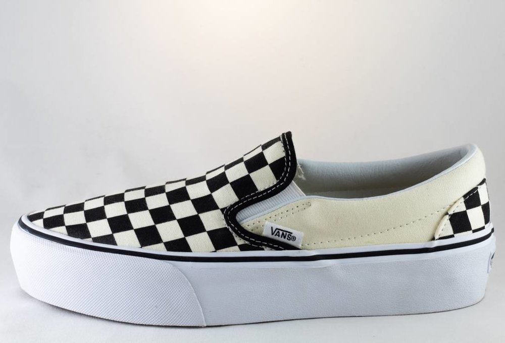 VANS SLIP-ON PLATFORM Black/Checkerboard/ White