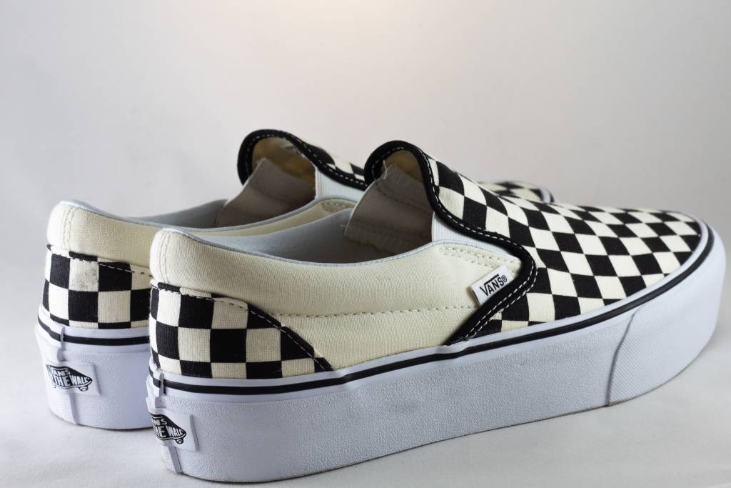 Vans SLIP-ON PLATFORM Black/Checkerboard/ White