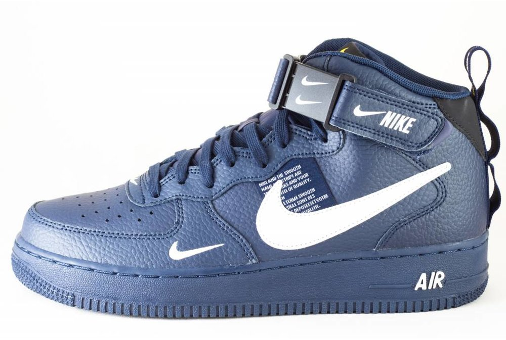 Nike NIKE AIR FORCE 1 MID '07 LV8 Obsidian/ White-Black