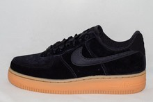 Nike W NIKE AIR FORCE 1 '07 SE Black/Black-Gum med Brown-Ivory