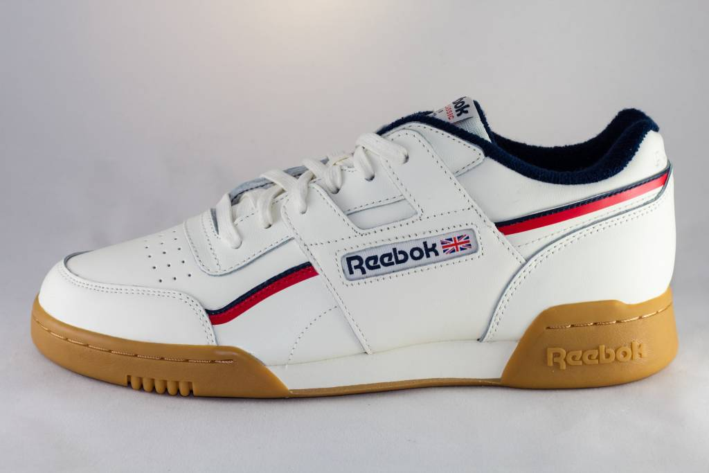 REEBOK WORKOUT PLUS MU Classic White Navy Red - Shoe Class abbc53ed2