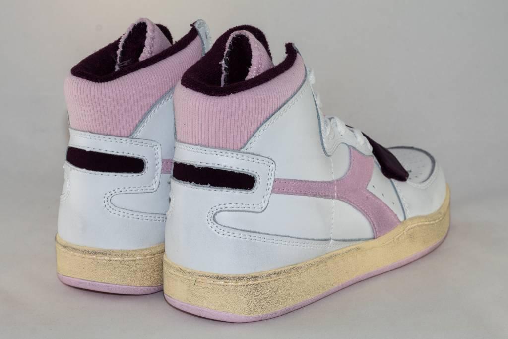Diadora DIADORA MI BASKET USED white/ craddle pink