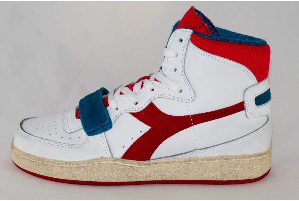 Diadora DIADORA MI BASKET USED white/ dark red