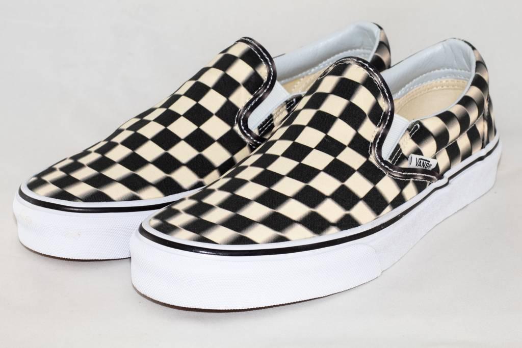 SLIP-ON (Blurr Checkerboard) Black/Classic White