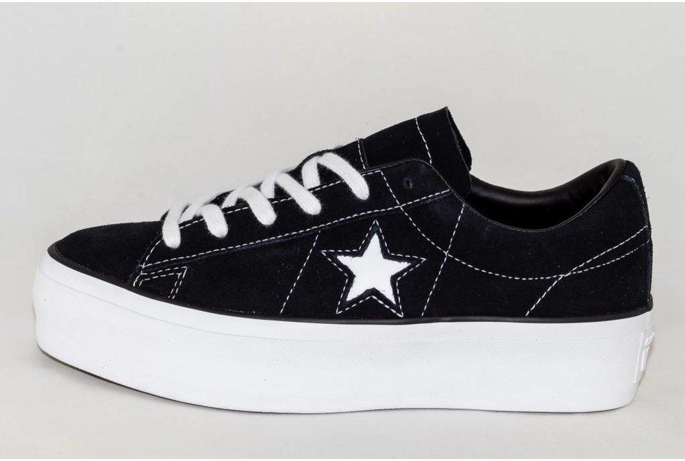 Converse CONVERSE ONE STAR PLATFORM OX Black/ White
